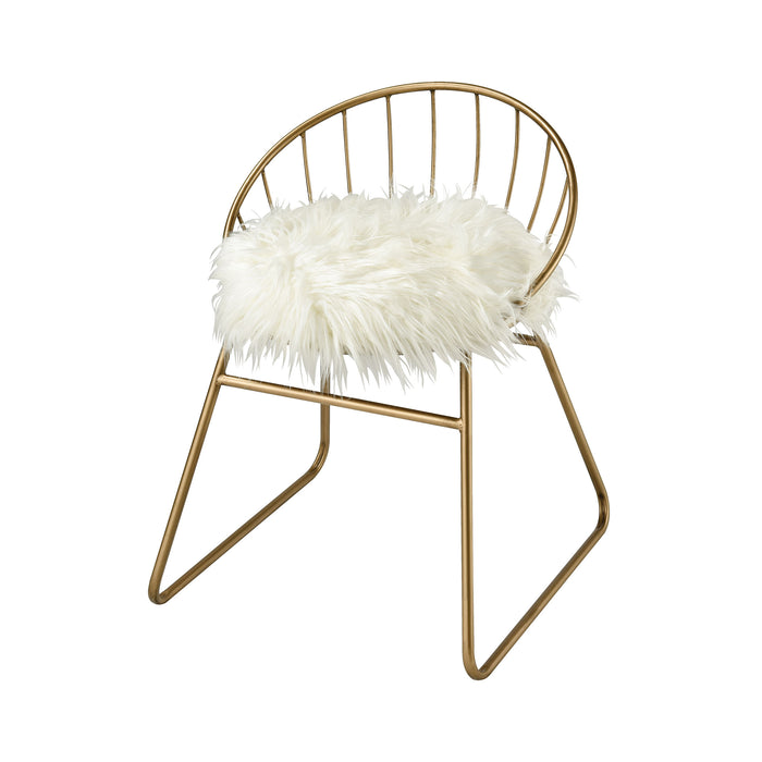 351-10558 Nuzzle Chair Gold, White