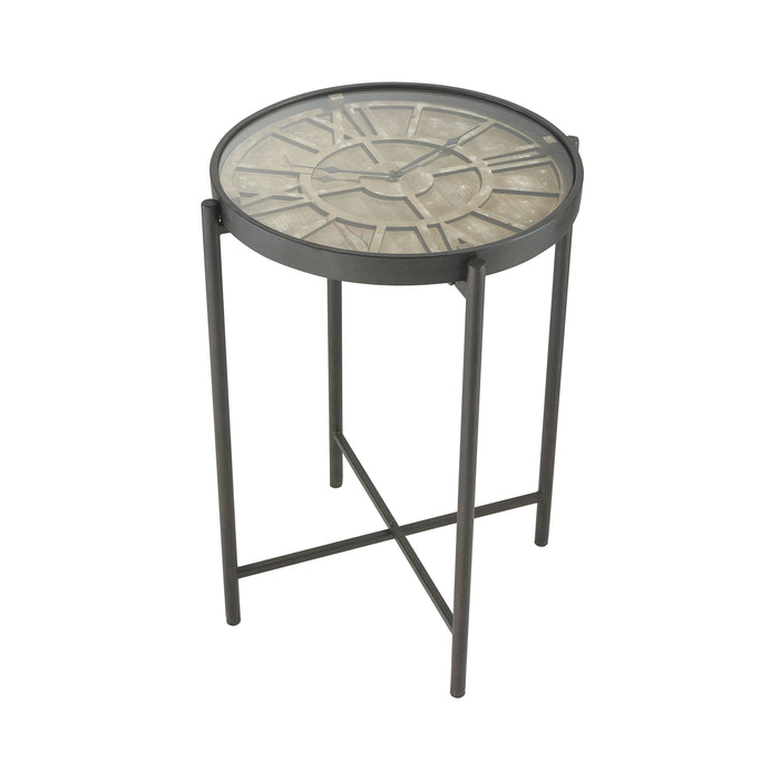 351-10586 Marylebone Bronze With Burnt Oak Wood And Metal Accent Table Bronze, Burnt Oak