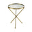351-10628 Narcissus Accent Table Gold, Antique Mirror