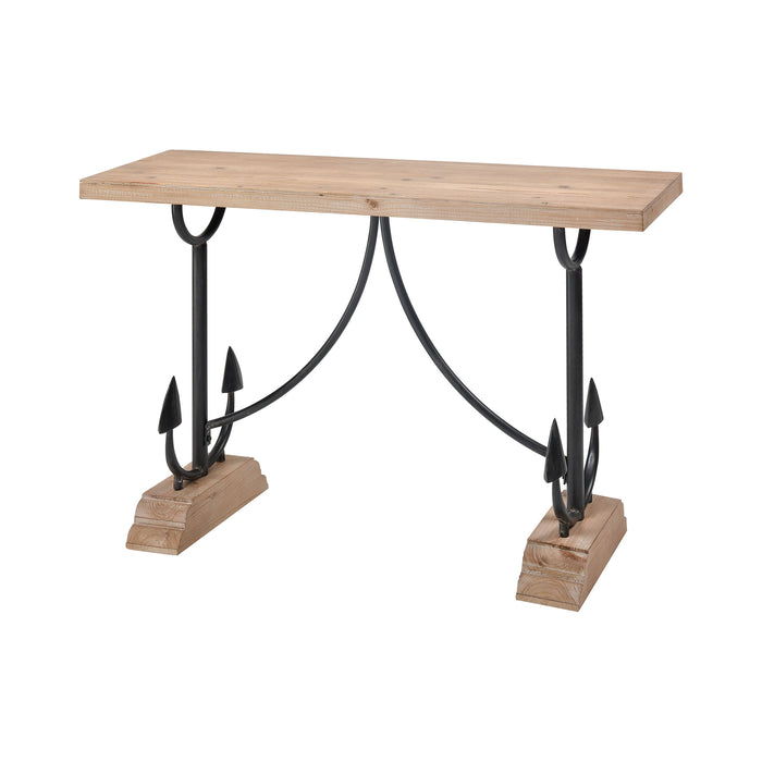 351-10723 Lone Tree Table Natural Wood, Black