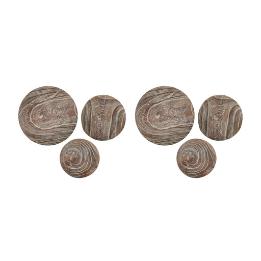 400704/S2 Canal Set of 3 Spheres Ashwood