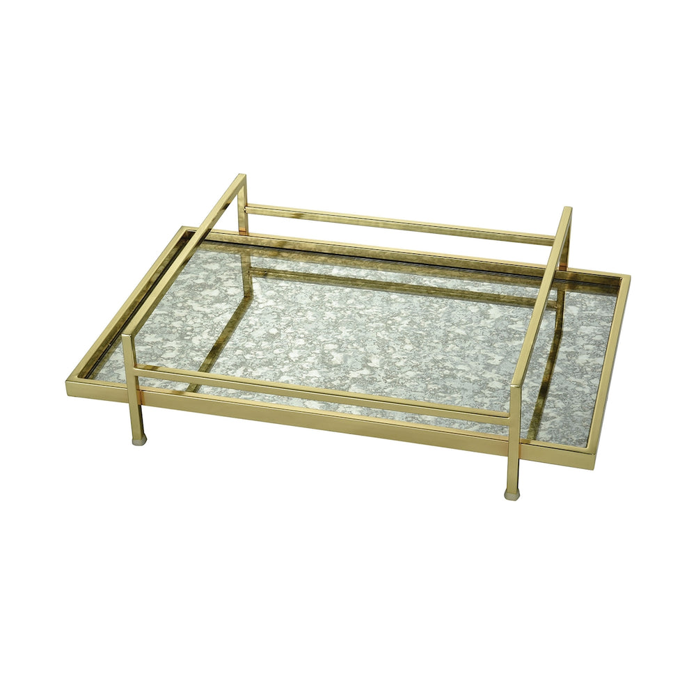 4209-017 Marlborough Tray Antique Mirror, Gold