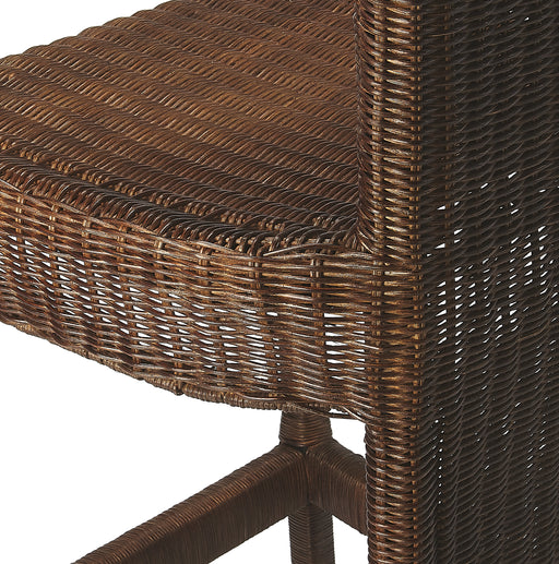 Andros Chocolate Rattan Counter Stool