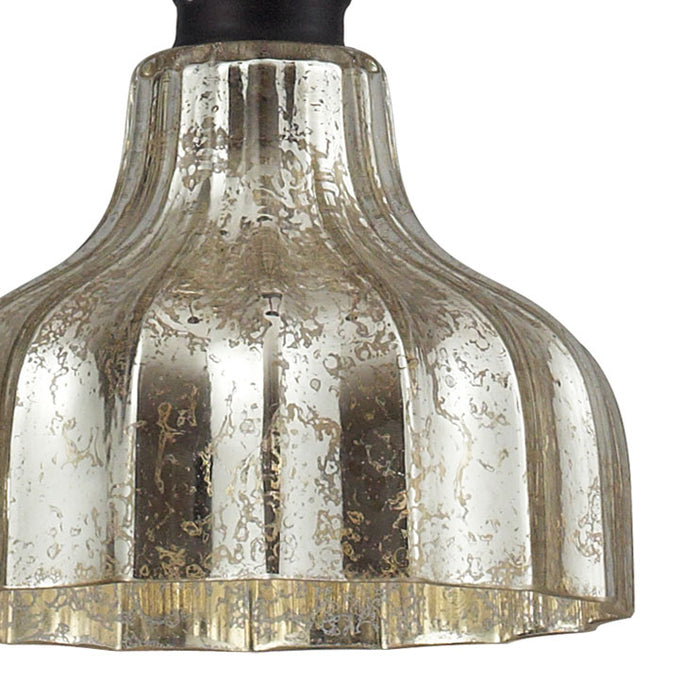ELK Lighting 46008/1 Danica 1 Light Pendant In Oil Rubbed Bronze And Mercury Glass Oiled Bronze Free Parcel Delivery