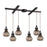 ELK Lighting 46024/6 Danica 6 Light Pendant In Oil Rubbed Bronze And Mercury Glass Oil Rubbed Bronze Free Parcel Delivery