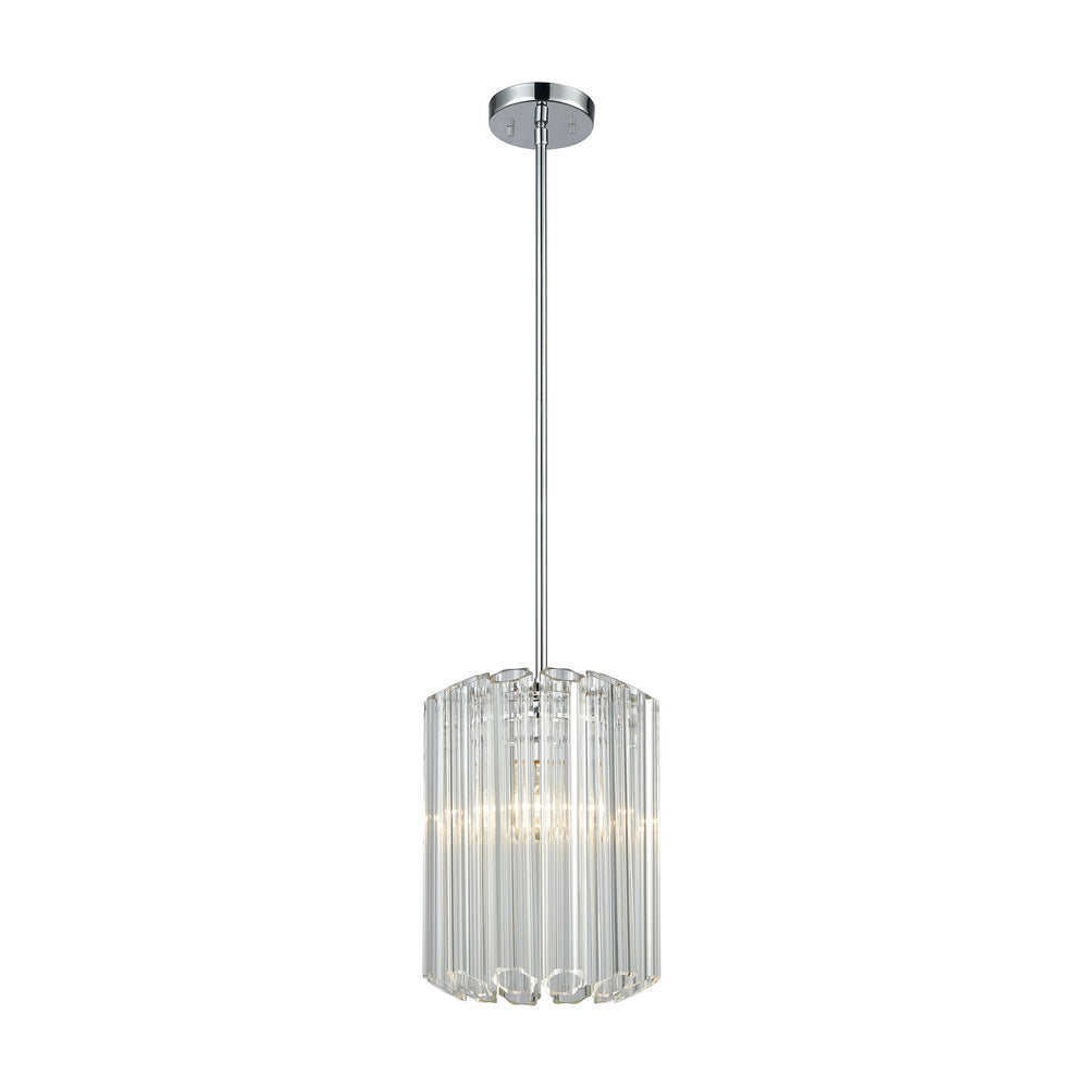 ELK Lighting 46311/1 Carrington 1 Pendant Polished Chrome Polished Chrome Free Parcel Delivery