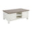 473-011 Nantucket Coffee Table - Brown Grey Veneer Top Off-White, Brown-Grey Wood-Toned Veneer