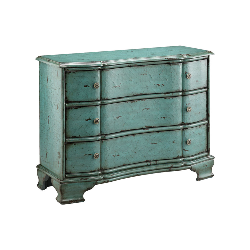 47753 Ilana Chest Blue, Hand-Painted