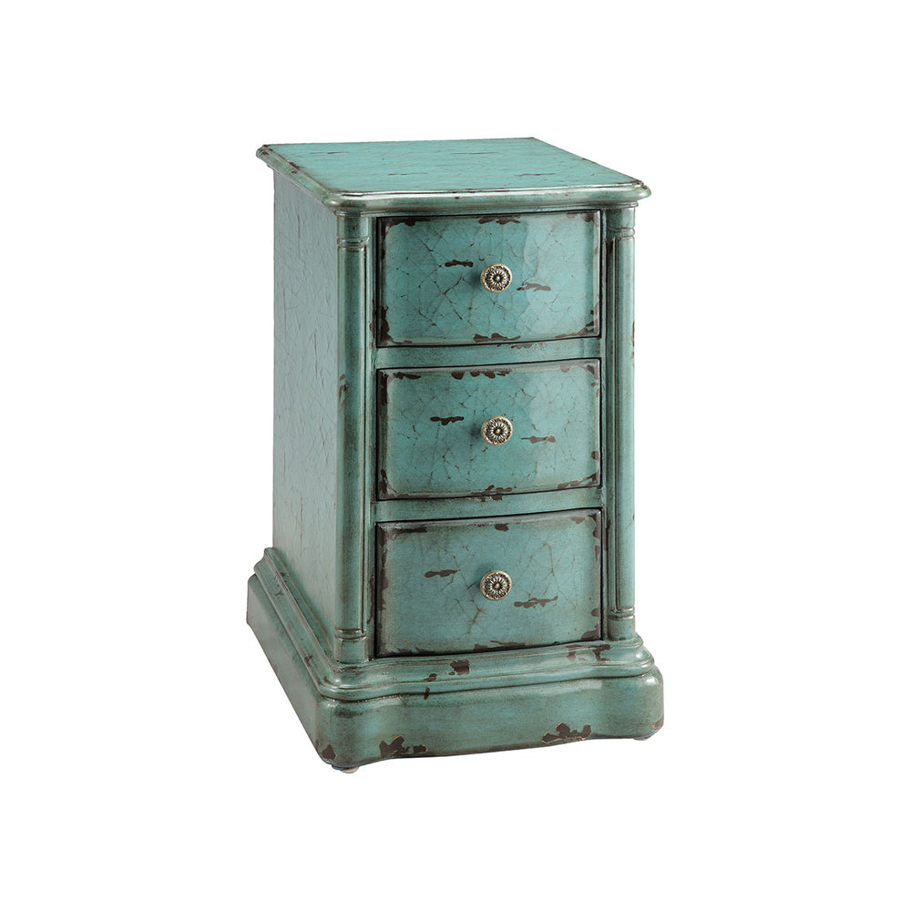 47774 Ilana Chairside Chest Turquoise