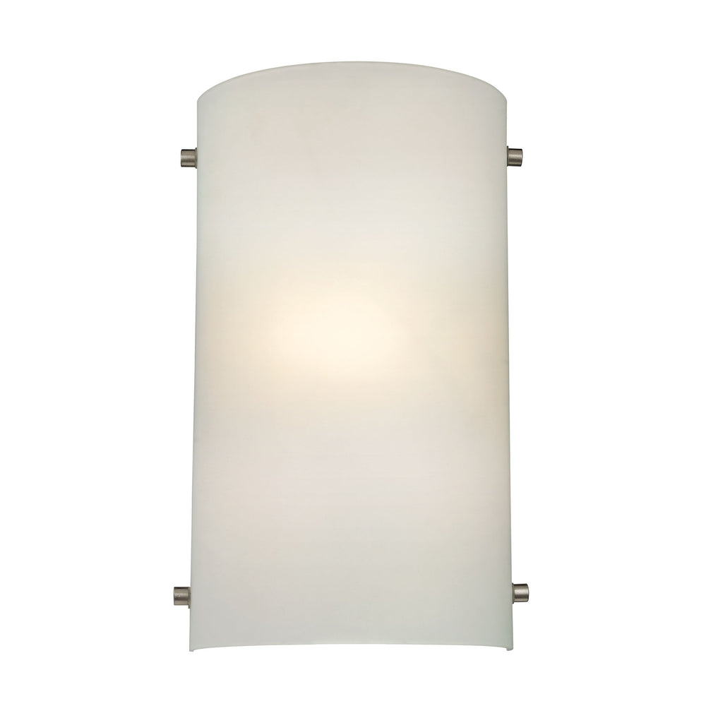 Thomas Lighting 5161WS/99 1 Light Sconce In Brushed Nickel With White Glass Brushed Nickel