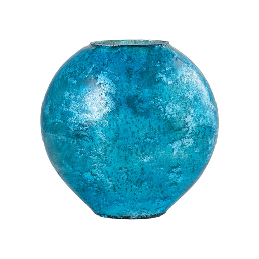 518812 Allure Vase Large Antique Turquoise Artifact