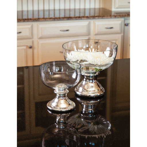 518966 Adura Bowl Large Antique Silver, Clear