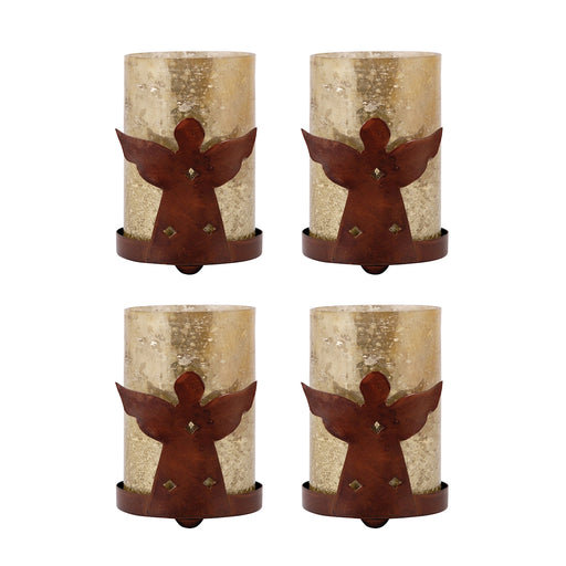519154/S4 Angel Votive Antique Wheat, Montana Rustic