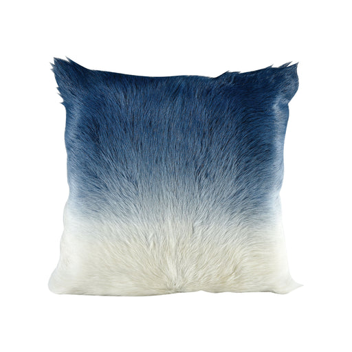 5227-006 Bareback Pillow - Blue To Ivory Ivory To Blue