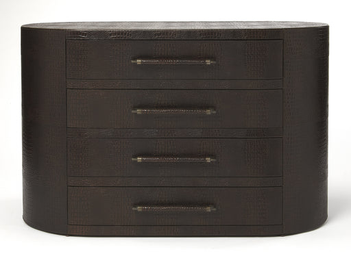 Arnaud Brown Leather Console Chest