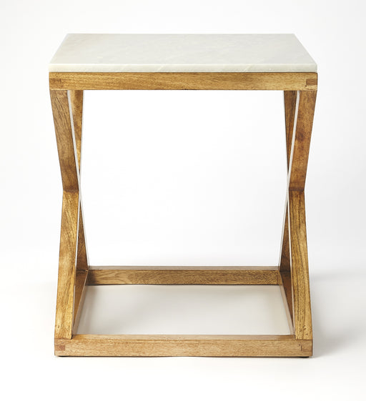 Braylon Marble & Wood End Table