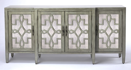 Giovanna Olive Gray Mirrored Sideboard