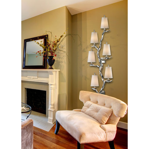 ELK Lighting 55005/6 Sprig Collection 6 Light Sconce In Silver Leaf Silver Leaf $199 Threshold Delivery