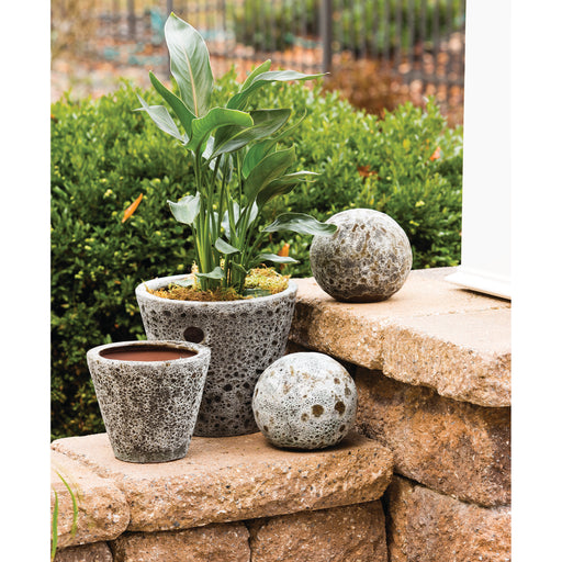 565090 Palatino Set of 2 Planters Brown Ancient Brown