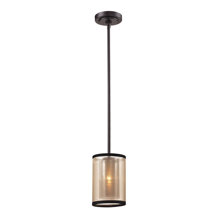 ELK Lighting 57026/1 Diffusion Collection 1 Light Mini Pendant In Oil Rubbed Bronze Oil Rubbed Bronze Free Parcel Delivery