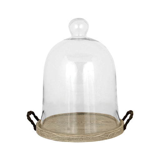 607592 Champagne Dome Large Birch, Clear Glass, Rustic