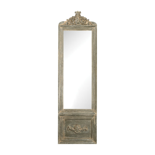 6100-018 Bastille Mirror With Floor Stand Grey Whitewash