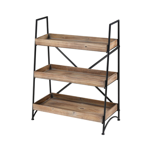 610028 Brenswick Storage Shelf Roasted Fir, Rustic