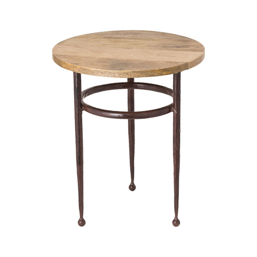610127 Cave Creek Side Table Montana Rustic, Natural Mango