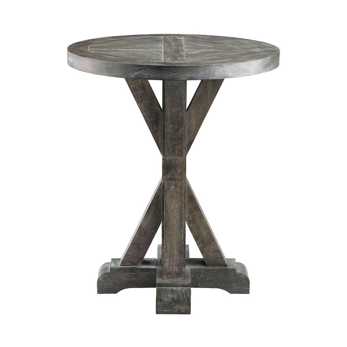 611-023 Bridgeport Round End Table Grey