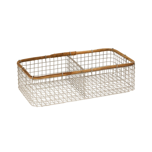 639715 Braxton Basket - Small Grey, Natural, Food-Safe