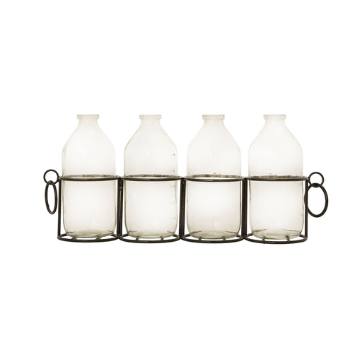 639845 Bassett Centerpiece Black, Clear