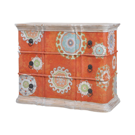 Harmony Chest In Mottled Tangerine