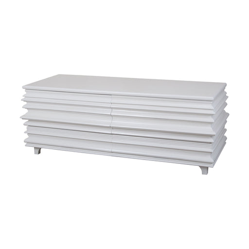6416513 Accordion 4 Drawer Storage Chest Grain De Bois Blanc