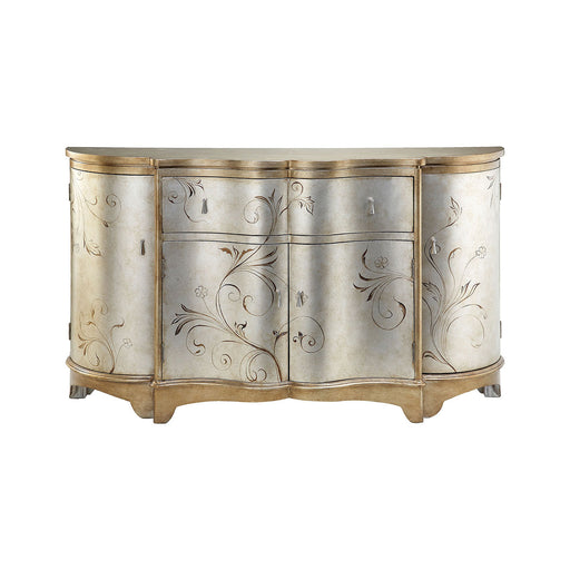 64701 Celeste Credenza Gold, Hand-Painted, Silver