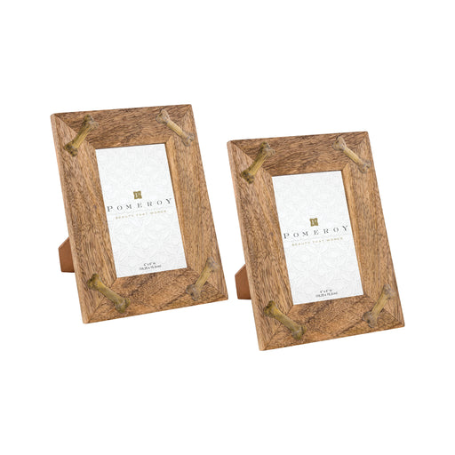 649585/S2 Barkley 4 X 6 Frame Natural, Antique Brass
