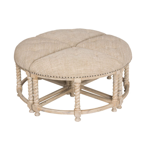 650004S Ottoman Table Euro Market Lavender Grey