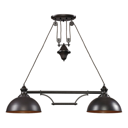 ELK Lighting 65150-2 2 Light Island In Oiled Bronze Oiled Bronze Free Parcel Delivery