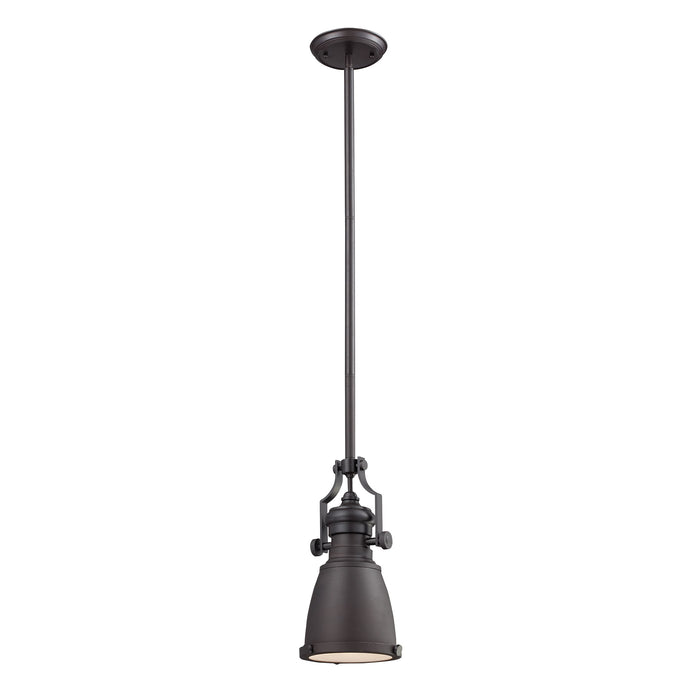 ELK Lighting 66139-1 Chadwick 1 Light Pendant In Oiled Bronze Oiled Bronze Free Parcel Delivery