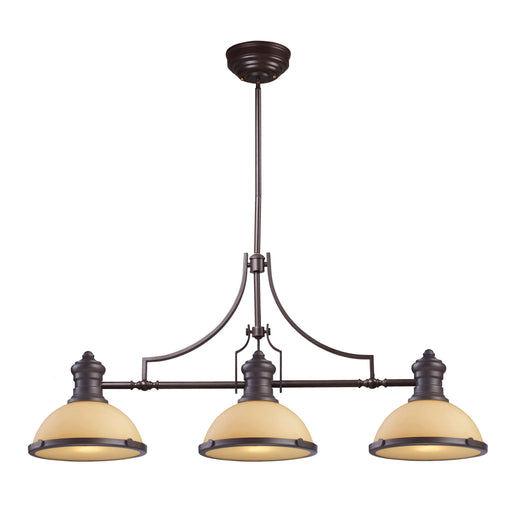 ELK Lighting 66235-3 Chadwick 3 Light Billiard In Oiled Bronze Oiled Bronze 199 Threshold Delivery