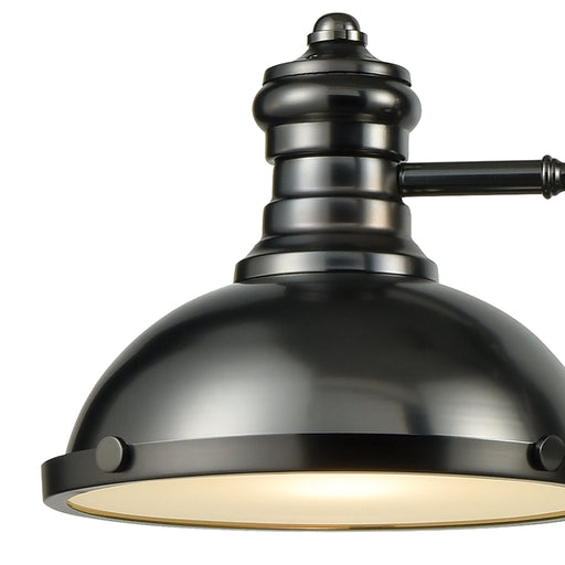 ELK Lighting 66605-3 Chadwick 1 Billiard/Island Black Nickel Black Nickel Free Parcel Delivery