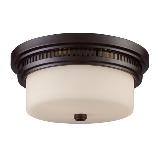 ELK Lighting 66631-2 2 Light Flush Mount Oiled Bronze Free Parcel Delivery