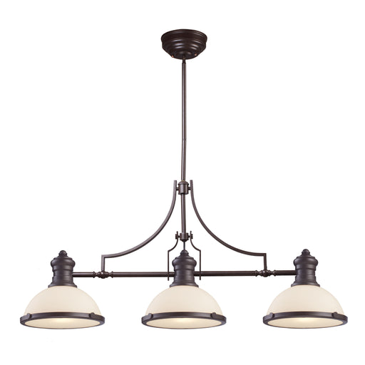 ELK Lighting 66635-3 3 Light Island Oiled Bronze Free Parcel Delivery