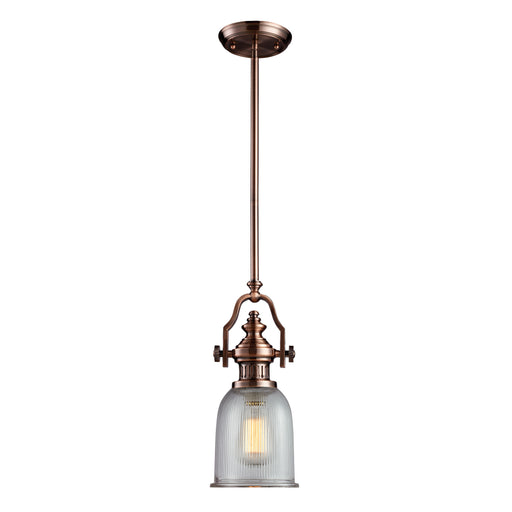ELK Lighting 66751-1 1 Light Pendant In Antique Copper Antique Copper Free Parcel Delivery