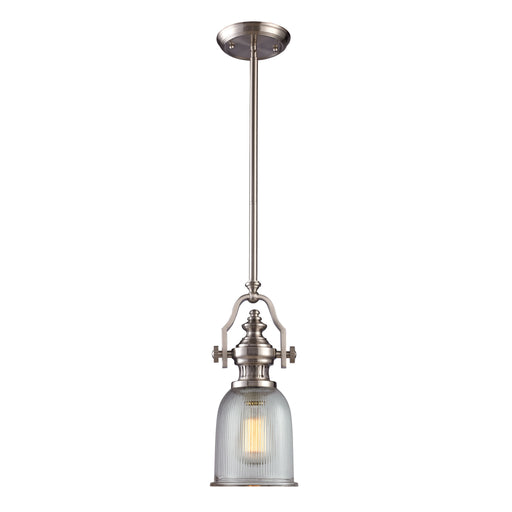 ELK Lighting 66771-1 1 Light Pendant In Satin Nickel Satin Nickel Free Parcel Delivery