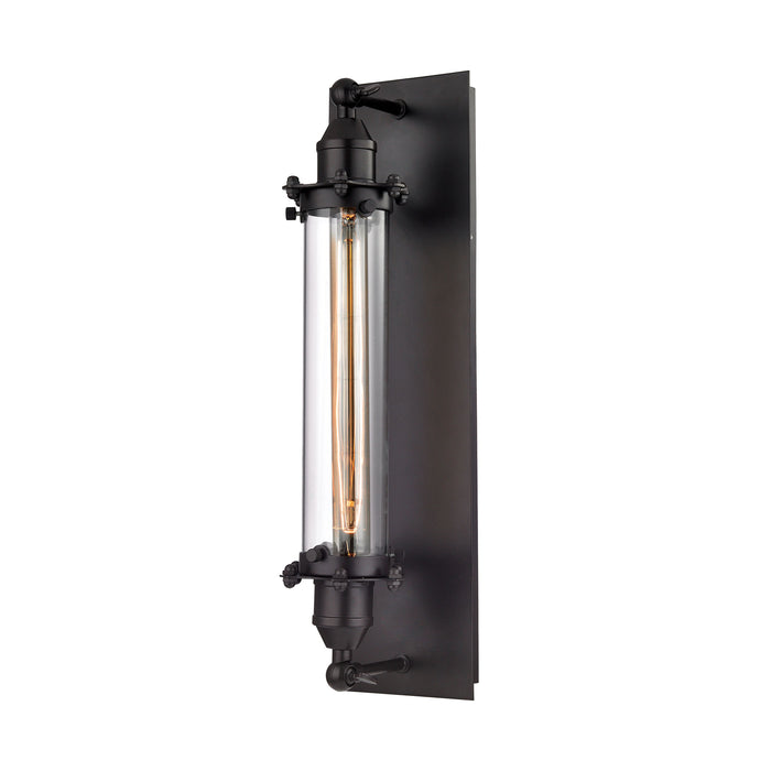 ELK Lighting 67342/1 Fulton 1 Light Wall Sconce In Oil Rubbed Bronze Oil Rubbed Bronze Free Parcel Delivery