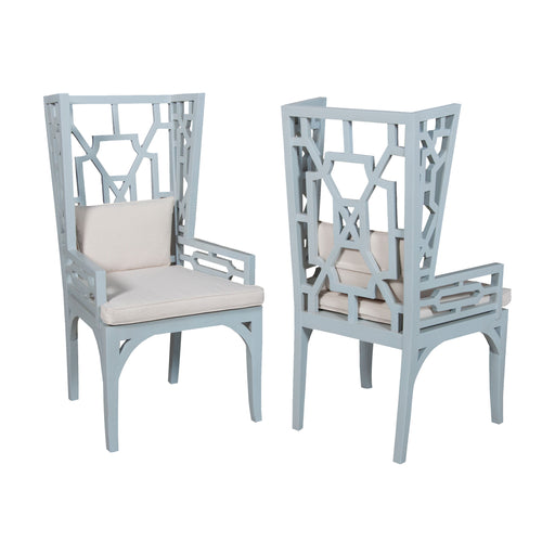 694010P Manor Wing Chair - Set of 2 Cool Mist
