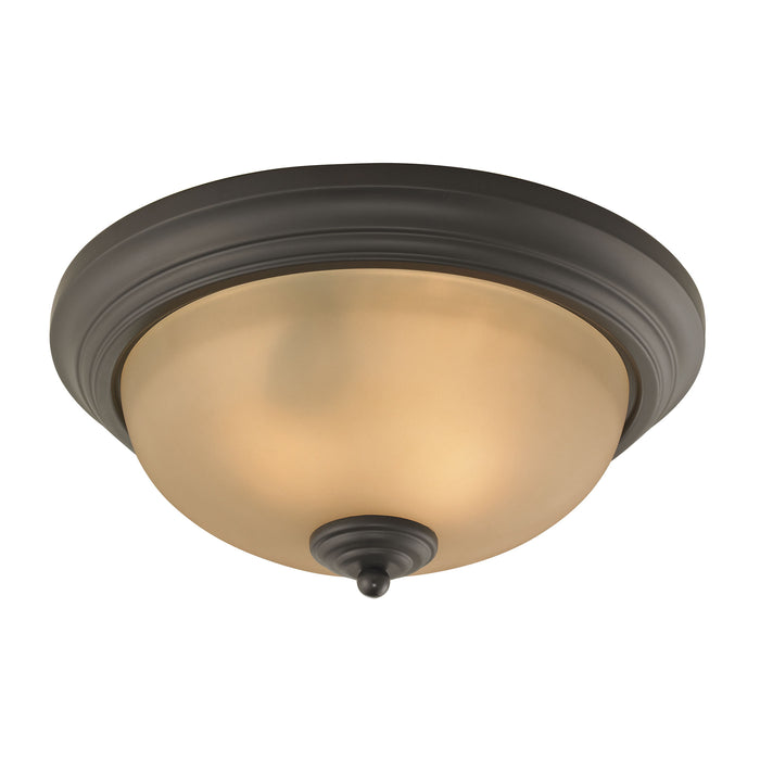 Thomas Lighting 7003FM/10 Huntington 2 Light Ceiling Lamp In Oil Rubbed Bronze Oil Rubbed Bronze