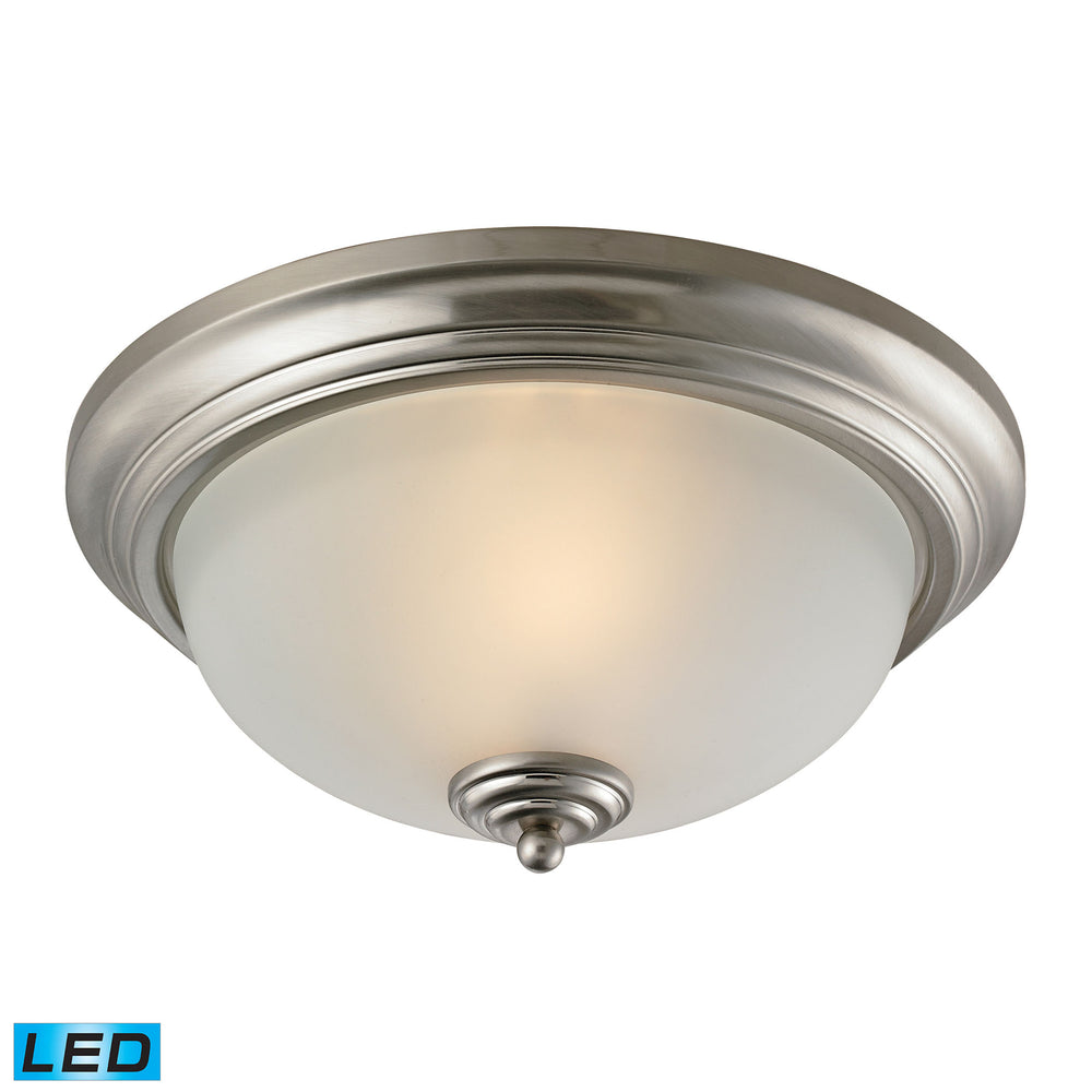 Thomas Lighting 7003FM/20-LED Huntington 2 Light Flush Mount In Brushed Nickel With LED Option Brushed Nickel