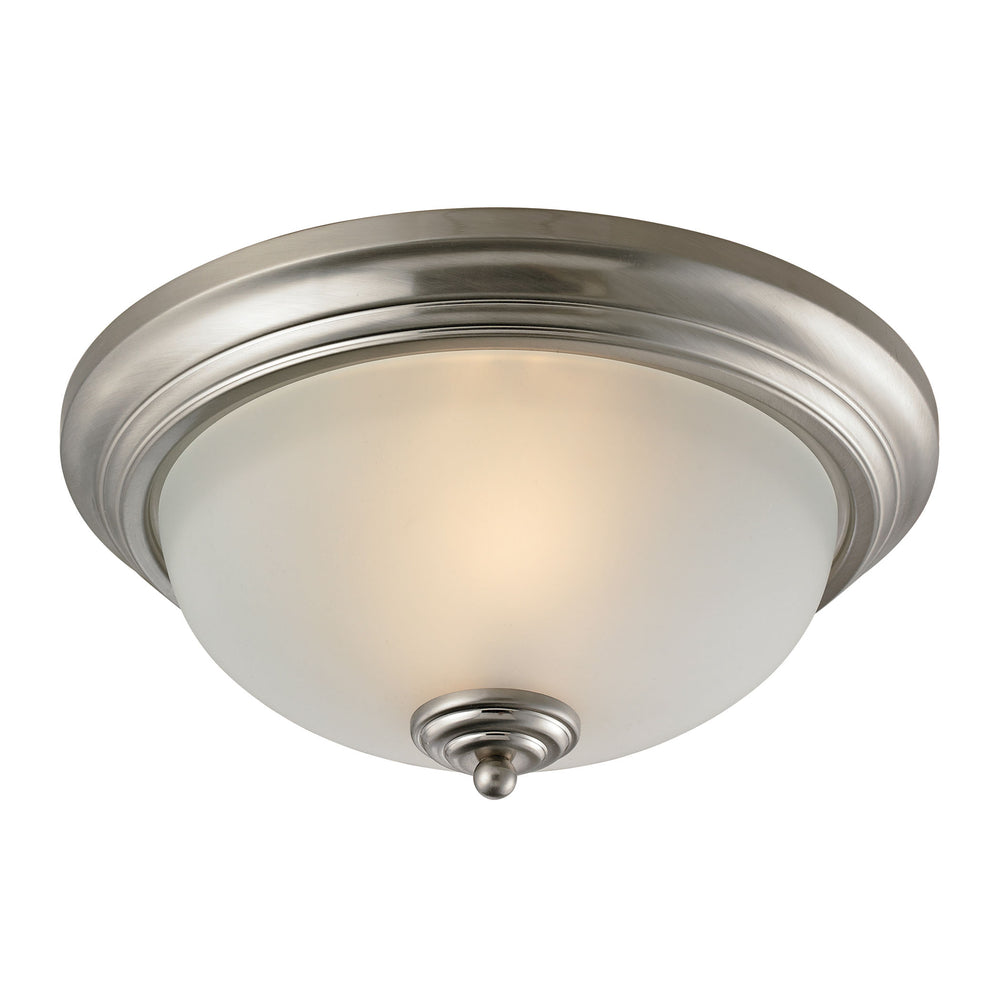 Thomas Lighting 7003FM/20 Huntington 2 Light Ceiling Lamp In Brushed Nickel Brushed Nickel