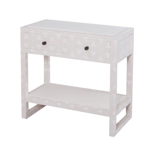 7011-1034 Bedford 2 Drawer Bedside Table Dove White, Grey